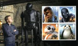 SG4008b  2017 Star Wars 4 x stamps includes Chewbacca