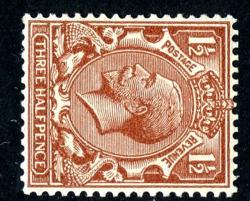 SG420b 1½d red brown wmk sideways