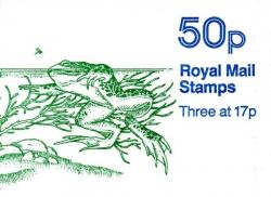 SG: FB33a  50p Pond Life  with stars underprinted on stamps