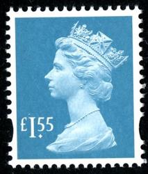 SG U3109  £1.55p greenish blue  MPIL   M18L