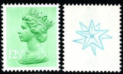 SG X898Eu 12½p double star (used with gum as print dissolves in water)