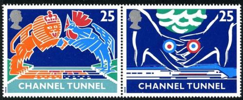 1994 Channel Tunnel 25p