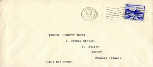 1943 29th June 2½d blue typed address ACTUAL ITEM