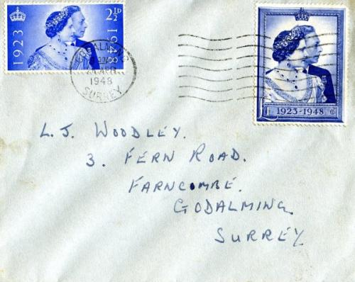 1948 dated 26th April wavy lines concellation Godalming Royal Wedding set. ACTUAL ITEM