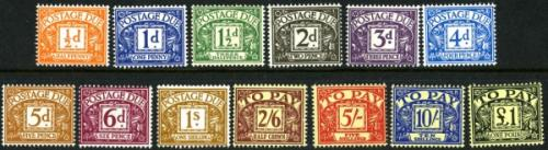 SG: D56-D68 1959 set of 13 postage dues
