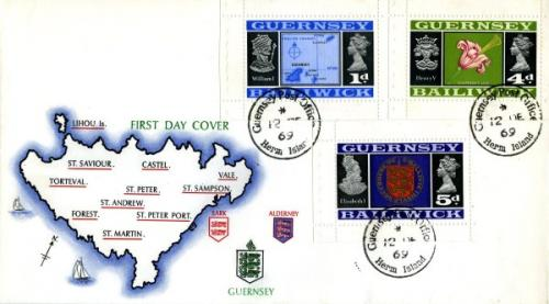 1969 1d,4d,5d booklet stamps