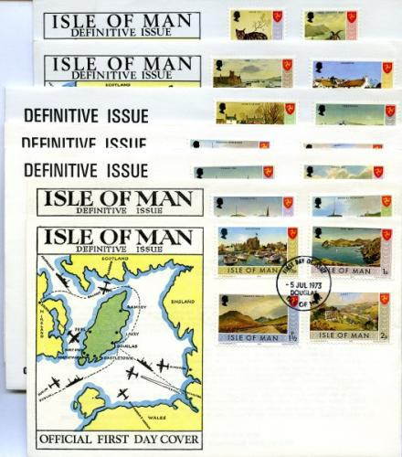 1971 Definitive Island Scenes - 7 covers