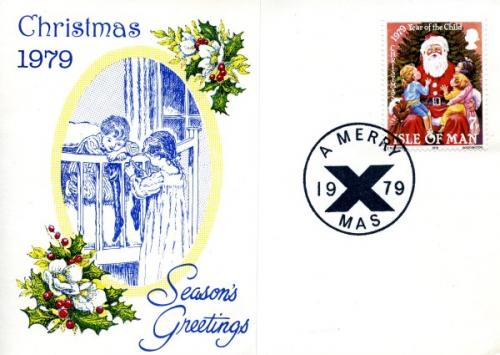 1979 Christmas Card with First Day of Issue cancellation
