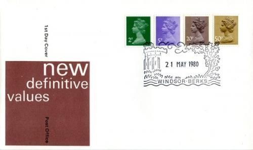 1980 21st May 2p,5p,20p,50p post office cover