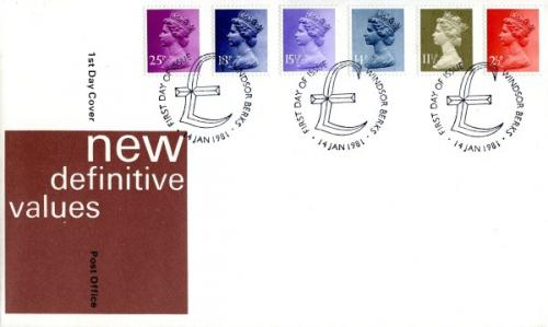 1981 14th January 2½p,11½p,14p,15½p,18p,25p post office cover