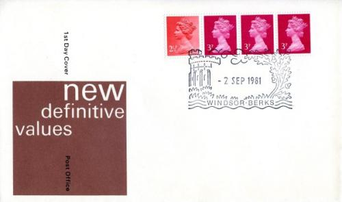 1981 2nd September  11½p coil  post office cover
