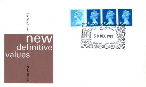1981 30th December 12½p coil  post office cover