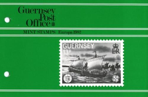 1982 Centenary Societe Guernesiaise with 2 stamps pack