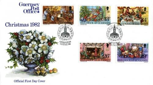 1982 Guernsey First Day Covers year set