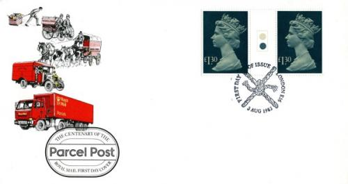 1983 3rd August £1.30p Parcel Post Gutter Pair royal mail cover