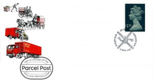 1983 3rd August £1.30p parcel post royal mail cover