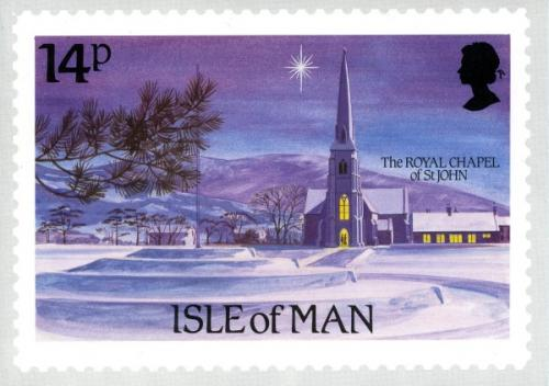 1985 Christmas Card with First Day of Issue cancellation stamp on inside cover