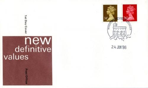 1986 24th June  26p,34p  post office cover