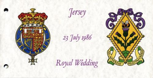 1986 Jersey Royal Wedding pack