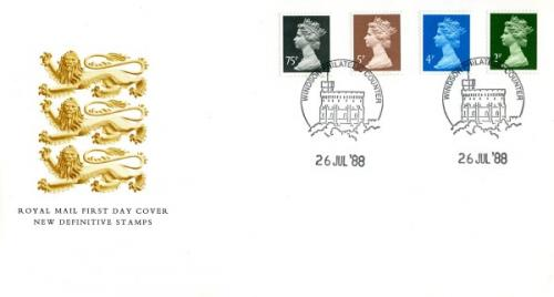 1988 26th July  75p,5p,4p,2p  royal mail cover