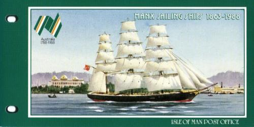1988  Manx Sailings Ships pack