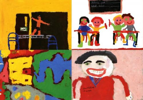 1989 Picture cards school paintings