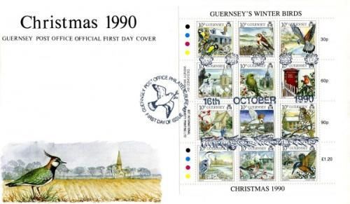 1990 Christmas Winter Birds