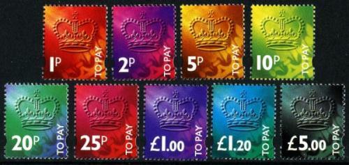 SG: 102-D110 1994 set of 9 postage dues