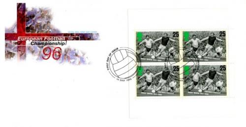 1996 European Football Championship 25px4 Royal Mail Cover
