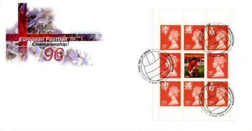 1996 European Football Championship 25px8 Royal Mail Cover