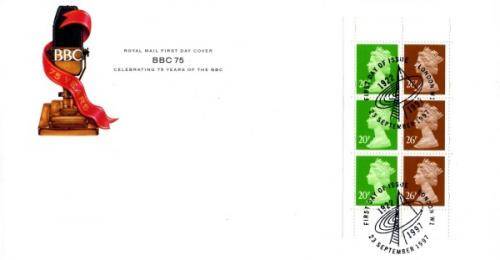 1997 23rd September BBC 75 Years 20px3, 26px3 Royal Mail Cover