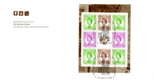 1998 10th March Definitive Portrait Wilding 20px2, 26px2, 37px2 Royal Mail Cover