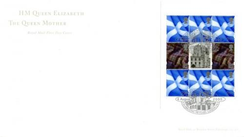 2000 4th August Queen Mother Booklet Pane