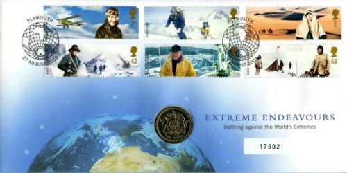 2003 Extreme Endevours coin cover with £1 coin - cat value £20