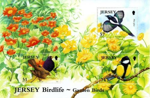 2007 Jersey Birdlife 3 values MS