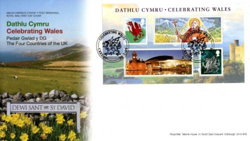 Wales 2009 26th February Celebrating Wales Royal Mail Cover Cardiff CDS