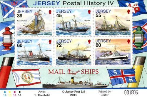 2010 Mail Ships 6 values MS
