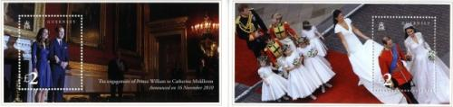 2011 Royal Wedding MS x 2