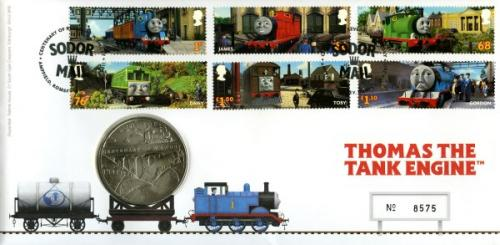 2011 Thomas The Tank Engine coin cover with medal - cat value £22