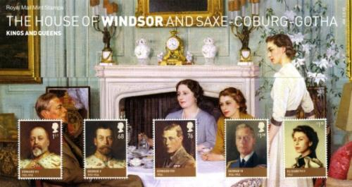 2012 House of Windsor including miniature sheet pack