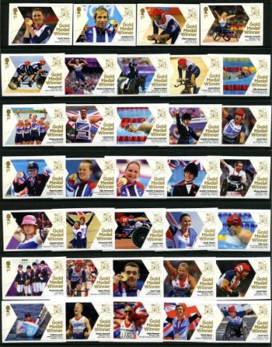 2012  Paralympic Gold Medal Winners set of 34