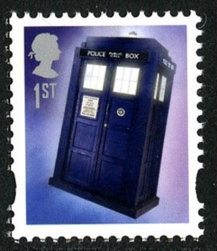 2013 Doctor Who Tardis gummed