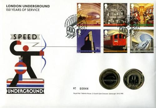 2013 London Underground coin cover with 2 x £2 coins