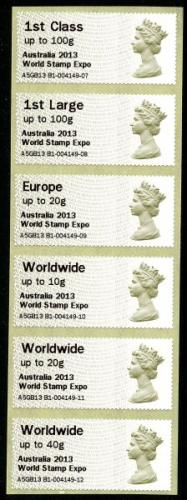 2013 Post & Go Australia Machin - this was issued as stamps only without a presentation pack