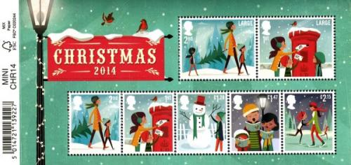2014 Christmas MS with tear off barcode strip easly remove or retain