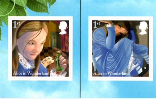 2015 Alice in Wonderland self adhesive 2 values SG3668-3669