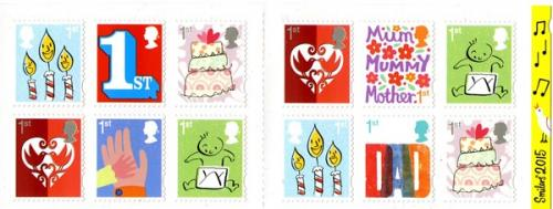 2015 Smilers Booklet Stamps