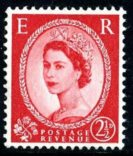 SG 574 2½d type2 red