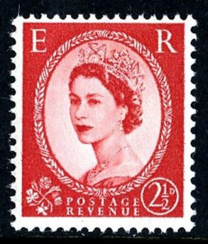 SG 574e 2½d type1 red