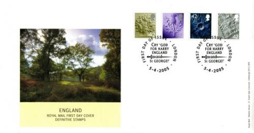 England 2005 5th April 4x42p royal mail cover